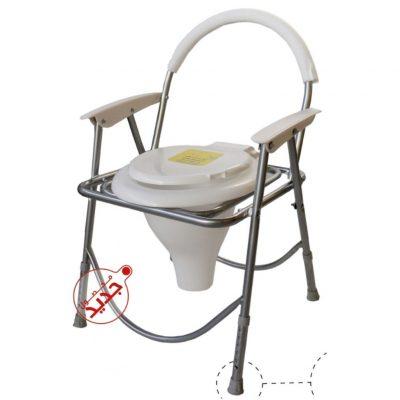 توالت فرنگی مبله تاشو قابل تنظیم شاخص طب_توالت فرنگی مسافرتی